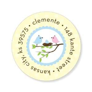 Bird Tree Egg Boy Round Baby Shower Stickers: Everything