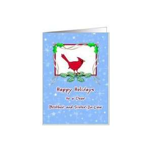 Brother & Sister In Law Christmas Card Happy Holidays Cardinal Card