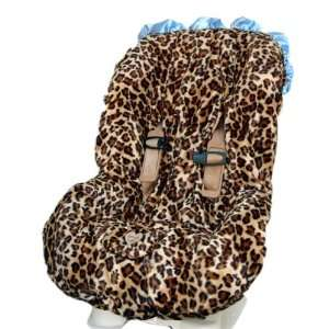Lollipop Leopard with Blue TODDLER CAR SEAT COVER Baby