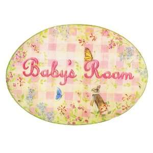 The Kids Room Girls Baby Room Oval Wall Plaque Baby