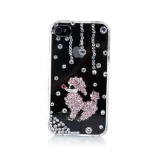 Smile Case 3D Poodle Dog Crystalized Rhinestone Bling Full