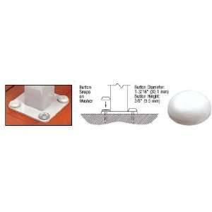 CRL Sky White Color Match Bolt Cover Buttons Pack of 50 by