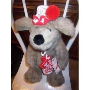 Vintage Large Plush KRISMUTT Christmas Dog Plush