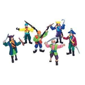 Set 12 Small Plastic Toy Pirates! Pirate Figures stand 2 3/4 inches