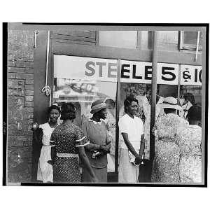 Negro women in front of ten cent store,Steele,Missouri