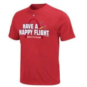 St. Louis Cardinals Red Majestic Happy Flight T Shirt