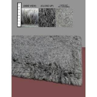 Flokati Faux Fur Rugs 4 x 4 (BROWN) Flokati Faux Fur Rugs 4 x 4