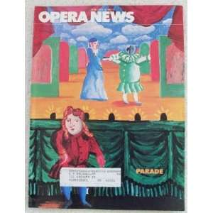 Opera News Magazine. February 28, 1981. Single Issue