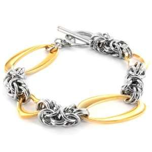 Heart Cut out Gold Plated Bracelet with Toggle Clasp West Coast