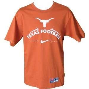 Men`s Texas Longhorns Orange Football Practice Tshirt