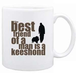 New  The Best Friend Of A Man Is A Keeshond  Mug Dog