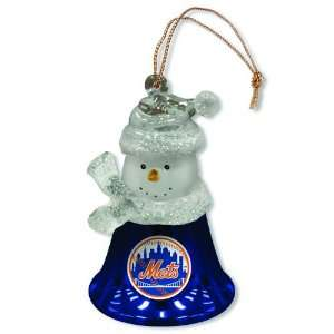 Pack of 3 MLB New York Mets Snowman Bell Christmas