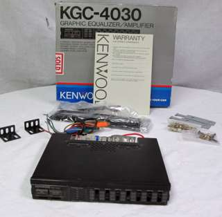 Vintage Kenwood Car Graphic Equalizer Amplifier 12V KGC 4030 1986 4