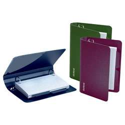 Oxford Poly Index Card Binder 4 12 H x 6 12 W x 1 12 D Assorted Colors