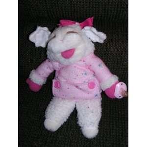 Shari Lewis Plush 13 Baby Lamb Chop Puppe in PINK arge