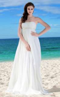 Sheath/ Column Strapless Floor length Chiffon Wedding Dress