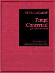 Tempi Concertati sheet music by Henri Lazarof  Sheet Music Plus