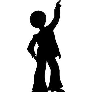 STANDEE (Height 190cm)   60s and 70s Party Goer Style With Comedy Afro
