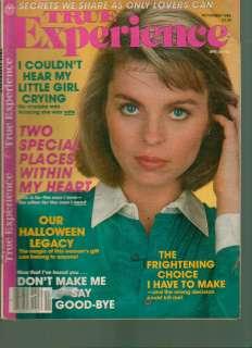 True Experience Magazine November 1986 Love Stories