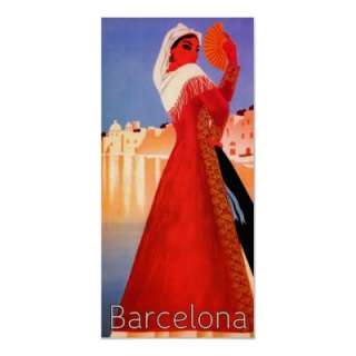 Vintage Travel, Barcelona Spain Posters by yesterdaysgirl