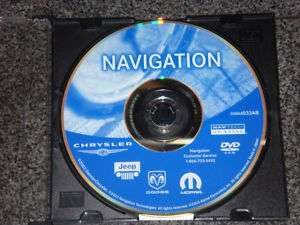 Jeep Dodge Chrysler Navigation DVD Disc