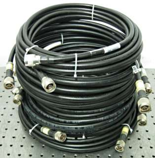 C87295 Lot 7 Times Microwave Systems LMR 400 RF Antenna Cables w/ type