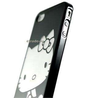 Piano Black Hello Kitty Chrome Hard Case for iPhone 4
