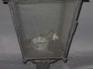 Antique Converted Street Light Lamp Oil to Electric