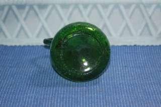 Vintage Blenko Art Glass Emerald Green Crackle Glass Pitcher Creamer