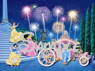 Disney Princesses Edible Cake Image Castle Stairs Ariel