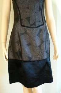 BCBG MAX AZRIA RUNWAY BLACK FLOWER PRINT SILK DRESS 4