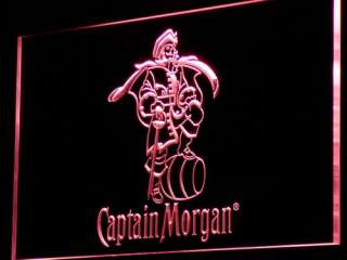a138 r Captain Morgan Spiced Rum Bar NR Neon Light Sign