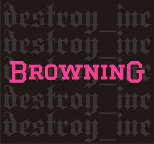 Browning Logo Hot Pink Decal Sticker Hunting Golf