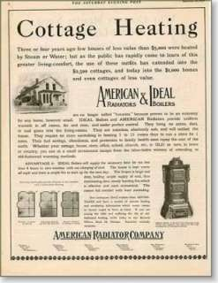 1907 American Radiator Company For cottage heating AD