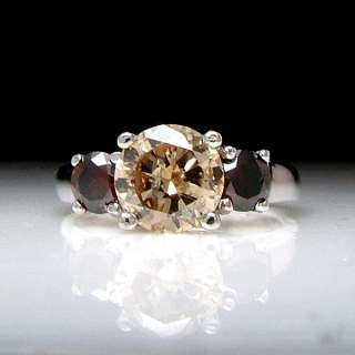Gold 1.35ct Fancy Cognac Red Diamond Engagement Ring