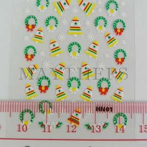 25 Xmas 3d Nail Art Design Stickers Sheets Decals