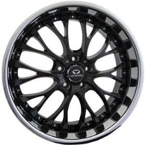 Lorenzo WL027 19x8 Chrome Black Wheel / Rim 5x120 with a 40mm Offset