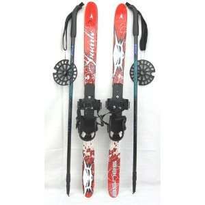 Whitewoods Nordic Cross Country Skis for Kids 90cm Red