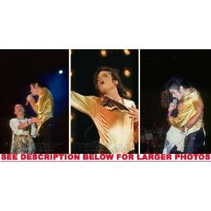MICHAEL JACKSON DANGEROUS TOUR LOVE MJ (3) RARE 8x10 FINE