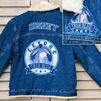Disney Eeyore Sherpa Lined Denim Jacket Coat M L XL NEW