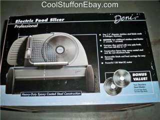 DENI PROFESSIONAL ELECTRIC FOOD SLICER / COLD CUT MACHINE MODEL 14302