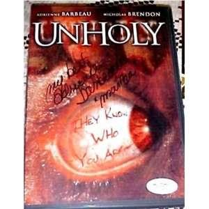 Adrienne Barbeau Signed UNHOLY DVD JSA EXACT Proof