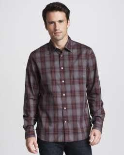 John Varvatos Star USA Denim Look Shirt $168.00