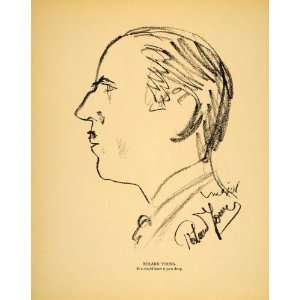 1938 Roland Young English Actor Henry Major Lithograph