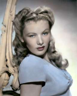 COLOR TINTED PHOTOGRAPH FILM ACTRESS PIN UP MODEL VERONICA LAKE