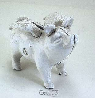 WHEN PIGS FLY CAST IRON ANGEL PIG w/ WINGS PIGGY BANK
