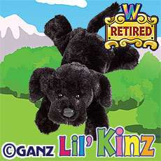 New **GANZ ~ WEBKINZ LIL KINZ BLACK LAB** Sealed Code