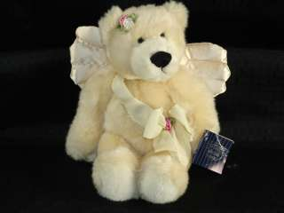 NEW 13 Plush Ganz VALENTINA Angel Teddy Bear Lovey Bow