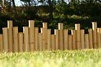 Bamboo Tiki Border Edging Fencing Natural Zen 1x 8