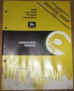 John Deere 4000 5000 Port Generator Operators Manual